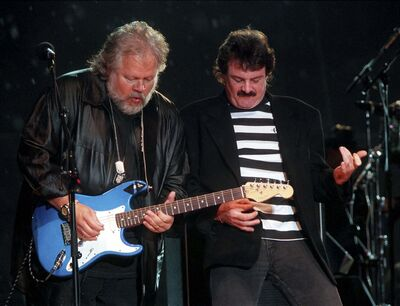Randy Bachman (left) and Burton Cummings</p>