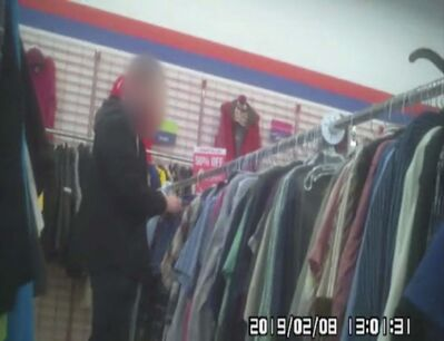 Surveillance footage of City of Winnipeg Planning, Property and Development Department employee at Value Village.