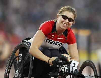 Michelle Stilwell, seen here at the Beijing 2008 Paralympic Games, has broken her own T52 wheelchair classification World Records  in Australia.