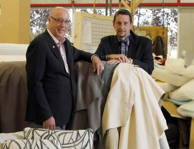 Palliser Furniture's Art DeFehr (left) and president Cary Benson. The company has kept a low profile while undergoing some dramatic changes.