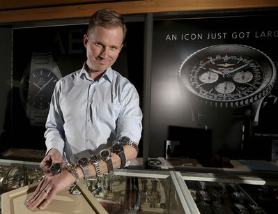 TREVOR HAGAN / WINNIPEG FREE PRESS</p><p>Jeremy Epp comes well-armed with high-end wristwatches.</p></p><p>