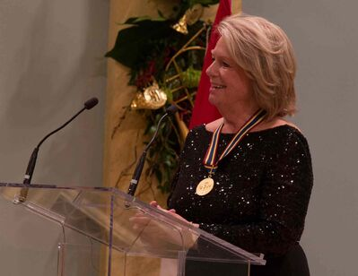 Jean Giguère was named the 2014 recipient of the Ramon John Hnatyshyn Award for Voluntarism in the Performing Arts.