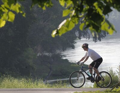 Today would be a nice day for a bike ride along the Assiniboine River.