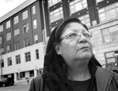 Bertha Travers of Little Saskatchewan First Nation doesn't like that the daily allowance has been cut to $4 from $23.40.