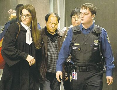 Evidence during Luka Magnotta's hearing was too much for the victim's father, Daran Lin, to handle. He left early Tuesday.