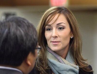 Amanda Lindhout attends a reception held in her honour by the Alberta Somali-Canadian community in Calgary in a 2010 file photo.  THE CANADIAN PRESS/Larry MacDougal