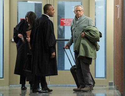 Former SNC-Lavalin executive Sami Bebawi, right, arrives for sentencing at the courthouse in Montreal on Friday, January 10, 2020. THE CANADIAN PRESS/Graham Hughes