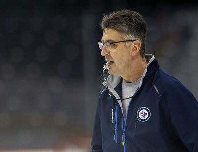 Winnipeg Jets head coach Claude Noel can't remember the last time the whole team was on the ice practising.