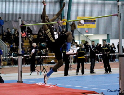 "Alhaji Mansaray jumped well for the U of M track team during his first season. The question now is, ""How high can he go?"""