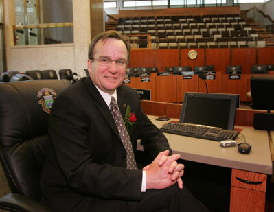 Justin Swandel, seen here as a new councillor in 2005, has acquired an aversion to criticism that is difficult to explain.