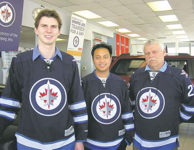 FROM LEFT: Top McPhillips Toyota Pinnacles winners Rory Egan (new sales manager), Oscar Jimenez and John Ferguson.