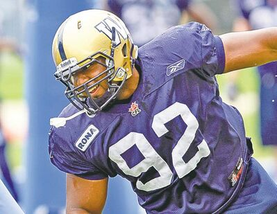 KEN GIGLIOTTI  / WINNIPEG FREE PRESS archivesBryant Turner will shift over to defensive end for Saturday�s tilt with the Ticats.