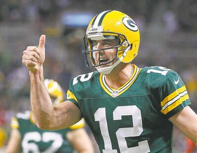That's a big thumbs up all right. Green Bay Packers QB Aaron Rodgers is now the highest-paid player in NFL history.