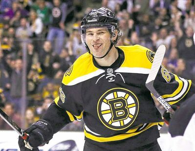 Bruins veteran right-winger Jaromir Jagr is a formidable challenge for opposing defencemen, even at this point in his career.