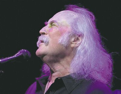 David Crosby sings harmony during Crosby, Stills and Nash concert at Place des Arts July 22, 2008.(THE GAZETTE/John Mahoney)