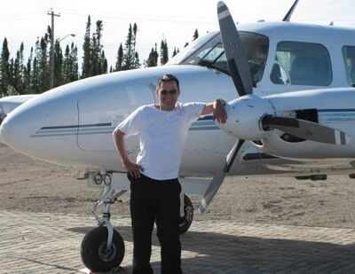Aboriginal entrepreneurs are taking off thanks to a Manitoba fund -- Tim Sweeny of Creeway Aviaiton now employs five, including himself.