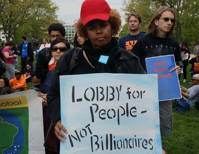 Protestors demonstrate at the U.S. Capitol addressing income inequality, minimum wage and ending tax breaks for wealthy corporations on Monday, April 28, 2014, in Washington, D.C.