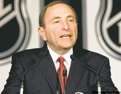 Maybe NHL commissioner Gary Bettman isn't such a bad guy after all. Hmmm...