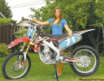 Houde credits her racing start to a supportive mother and father Kim Houde, Canadian motocross champion in 1979.