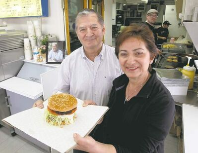 Cathy Mikos and her brother-in-law, Steve, keep the King Burger tradition alive.
