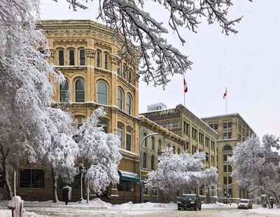 Courtesy of Brent Bellamy</p><p>This streetscape in Winnipeg's Exchange District presents a pretty winter picture, but it also illustrates the value of preserving and protecting heritage buildings.</p>