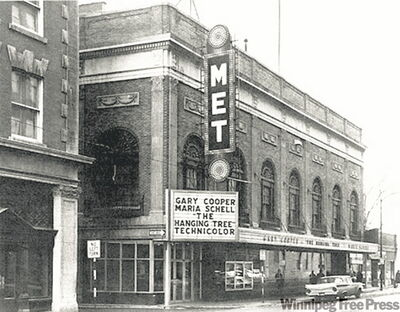 The Met in 1959 as a movie theatre, which closed in 1987.