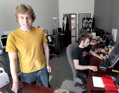 Noah Decter-Jackson, of Complex Games Inc., has eight people working at his video game development company.