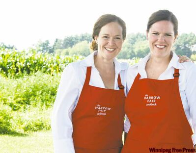 Harrow Fair Cookbook co­authors Moira Sanders, left, and her sister Lori Elstone.