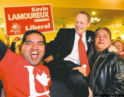 In a major upset, longtime Liberal and former MLA Kevin Lamoureux took the Winnipeg North seat from the NDP.