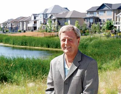 Mike Moore, president of the Manitoba Home Builders' Association, at the Parade of Homes.