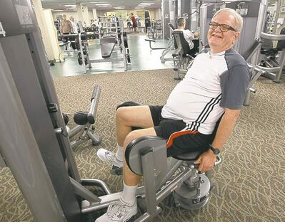 JOE BRYKSA / WINNIPEG FREE PRESS David Holt says his chest pains diminished quickly once he started exercising at the Reh-Fit Centre.