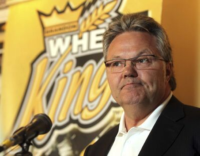Colin Corneau/Brandon Sun</p><p>Wheat Kings owner, general manager and head coach Kelly McCrimmon said an emotional farewell to the Wheat City Tuesday.</p></p>