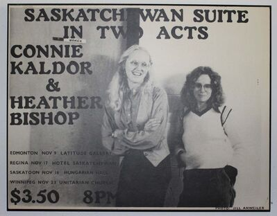 Supplied</p><p>A poster for a 1976 tour featuring Heather Bishop (right) and Connie Kaldor.</p>