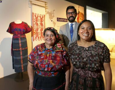 WAYNE GLOWACKI / WINNIPEG FREE PRESS</p><p>De Le&#243;n (left) and Chopen were impressed by how well the virtual-reality exhibit transported them to their co-operative at home.&#8216;I&rsquo;m able to see this grandmother like she&rsquo;s talking to us,&rsquo; de Le&#243;n said through an interpreter. At rear is curator Armando Perla.</p>