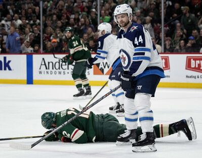 The Winnipeg Jets Josh Morrissey  And A Fallen Eric Staal