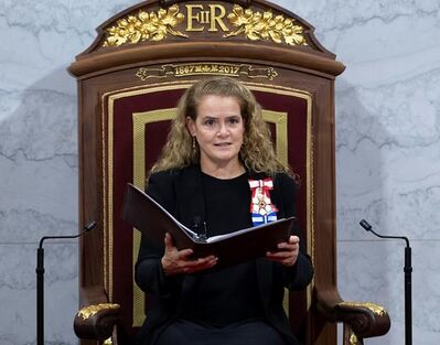 Governor General Julie Payette delivers the Throne Speech in the Senate chamber, Thursday, December 5, 2019 in Ottawa. Canada's fossil fuel sector is looking to the throne speech for signs the federal government is not throwing in the towel on oil and gas including by delaying the plan for a clean fuel standard even longer.THE CANADIAN PRESS/Sean Kilpatrick