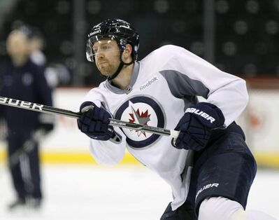 Winnipeg Jets right winger Eric Fehr