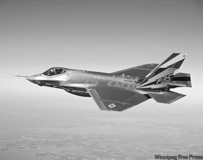 U.S. Navy / The Associated Press ArchivesA variant of the F-35 Joint Strike Fighter, the F-35C, conducts a test flight.