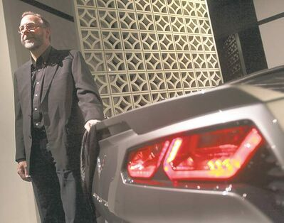 Chevrolet designer Kirk Bennion, above, the man behind the new Corvette C7 Stingray, at a recent gala at the Petersen Auto Museum in Los Angeles.