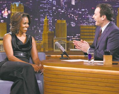 Michelle Obama  paid a visit  to The Tonight Show shortly after Fallon took over.