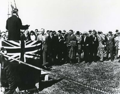 WINNIPEG FREE PRESS</p></p><p>Stevenson Field dedication ceremony.</p><p>May 1928</p>