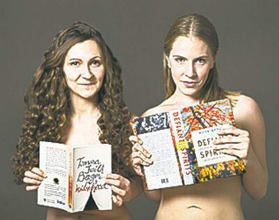 Bare It For Books co-creators Amanda Leduc and Allegra Young.PHOTO BY SHELAGH HOWARD