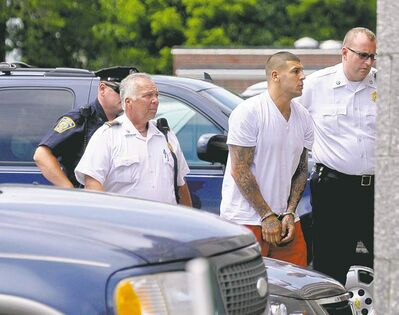 Patrick Raycraft / mcclatchey news serviceDocuments filed Tuesday in Florida provide damning evidence against former New England Patriots player Aaron Hernandez.