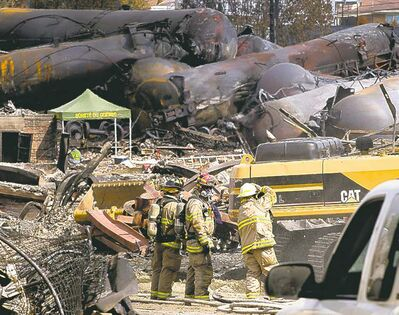 A train derailment and fire in Lac-Megantic, Que. left 37 people confirmed dead.