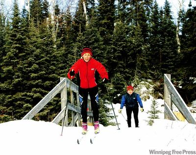 Cross-country skiing in the Whiteshell.