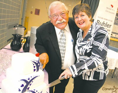 John and Bonnie Buhler at the celebration of their donation of $2 million to the Misericordia Eye Care Centre in June 2011.