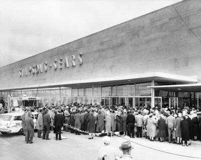 Courtesy of Stantec</p><p>Customers line up for opening day of the Polo Park Simpsons-Sears store on May 6, 1959.</p>