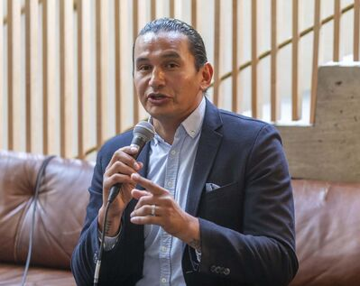 Wab Kinew committed to hire at least 50 more nurses system-wide within a first year in office, at an estimated cost of $13.5 million. That's on top of the nurses that would be hired to fill positions at reopened Seven Oaks General Hospital and Concordia Hospital emergency departments, as previously promised. (Sasha Sefter / Winnipeg Free Press)</p>
