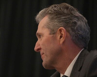 Manitoba Progressive Conservative Leader Brian Pallister spoke at the The Winnipeg Chamber of Commerce lunch Tuesday.