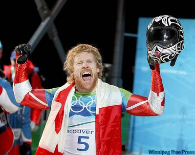 Jon Montgomery says it's 'really cool' to have a thoroughbred named after his golden moment at the 2010 Winter Games.